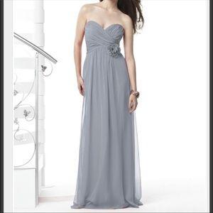 Dessy Collection Platinum Bridesmaid Dress - 2